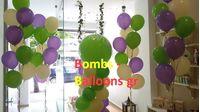 Κατασκευή μπαλονιών ζαχαρωτό με μεγάλο μπαλόνι και μπαλόνια με ήλιον