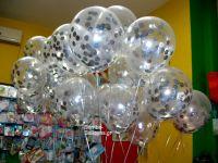 Μπαλόνια διάφανα με κονφετί