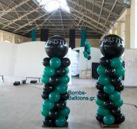 Κατασκευές μπαλονιών ζαχαρωτό με μεγάλο μπαλόνι