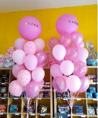 Μεγάλα μπαλόνια σε αποχρώσεις του ροζ