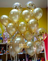 Χρυσά μπαλόνια κονφετί