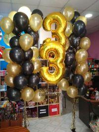 Μπαλόνια χρυσά και μάυρα