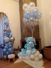 Αρκούδος με μπαλόνια