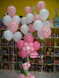 Λουλούδι και μπαλόνια πουά