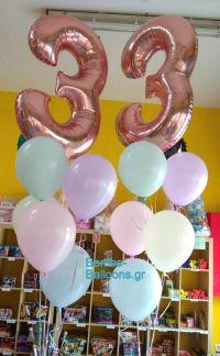 Μπαλόνια αριθμοί παστέλ