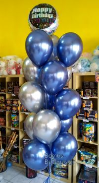 Μπαλόνια shiny μπλε ασημί