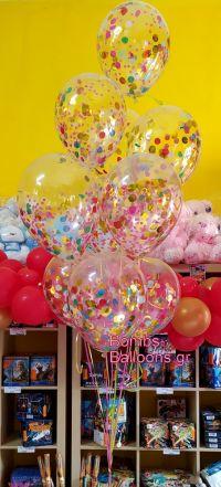 Μπαλόνια πολύχρωμο κονφετί