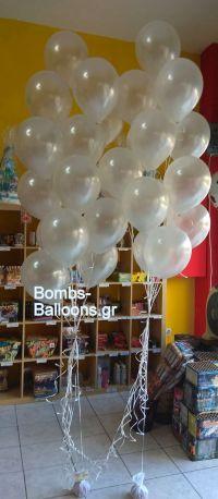 Μπαλόνια λευκά περλέ