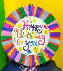 """Πινιάτα Γενεθλίων """"Happy Birthday"""""""
