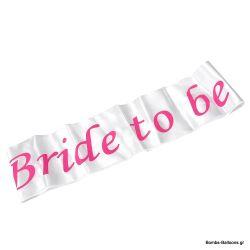 """Κορδέλα """"Bride to be"""" Λευκή"""