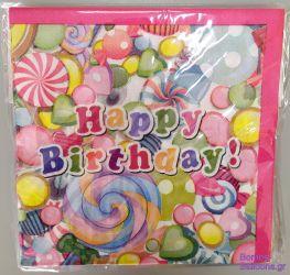 Χαρτοπετσέτες Happy Birthday πολύχρωμες