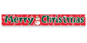 Merry Christmas foil banner