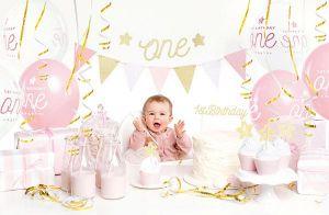 Σετ πάρτυ πρώτα γενέθλια κορίτσι