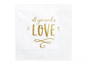 Χαρτοπετσέτες all you need is love