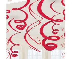 Διακοσμητικά οροφής swirl κόκκινο