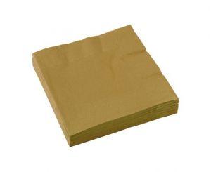Χαρτοπετσέτες χρυσές
