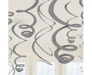 Διακοσμητικά οροφής swirl ασημί