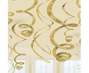 Διακοσμητικά οροφής swirl χρυσό