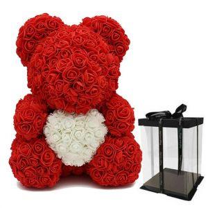 Αρκουδάκι Τριαντάφυλλα Καρδιά μεγάλο