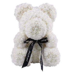 Rose teddy bear λευκό