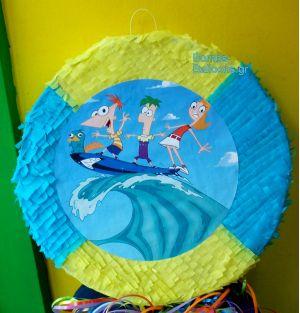 """Πινιάτα """"Phineas and Ferb"""""""