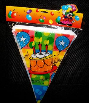 Σημαιούλες Happy Birthday