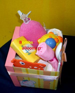 Κουτί με πάνες κορίτσι1