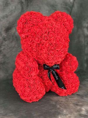 Rose teddy bear κόκκινο