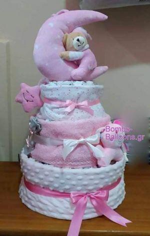 τούρτα τριώροφη κορίτσι