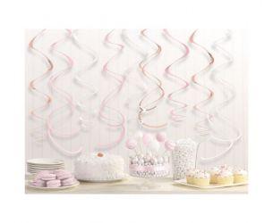 Διακοσμητικά οροφής swirl ροζ χρυσό