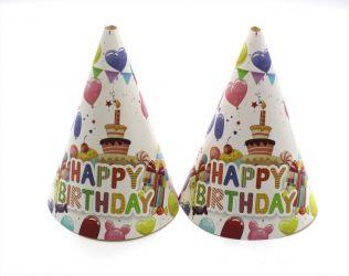 Καπελάκια Happy Birthday τούρτα
