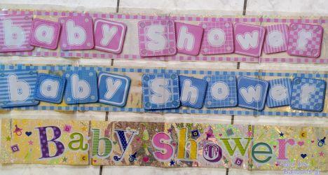 Baby shower foil banner